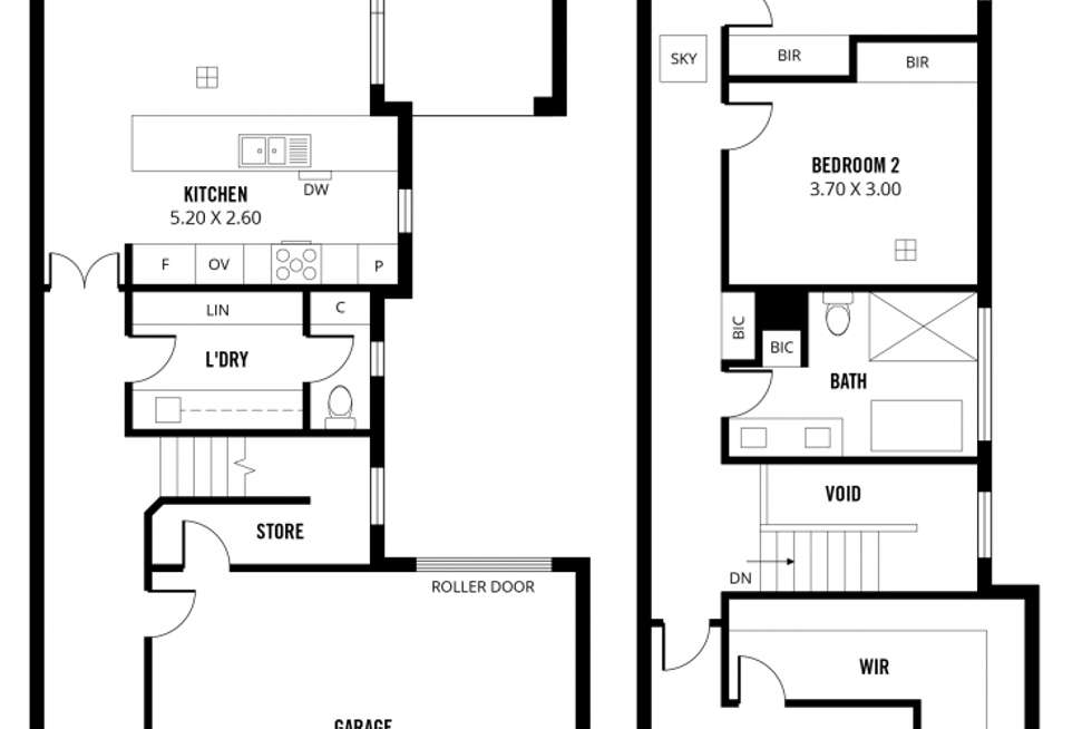 Floorplan of Homely townhouse listing, 70 Bells Road, Glengowrie SA 5044