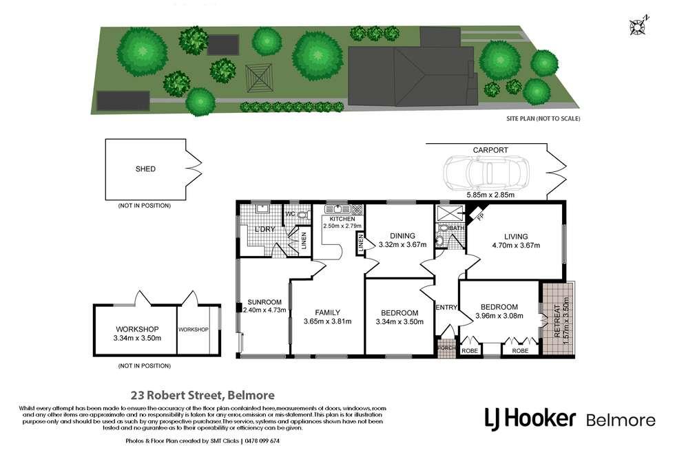Floorplan of Homely house listing, 23 Robert Street, Belmore NSW 2192