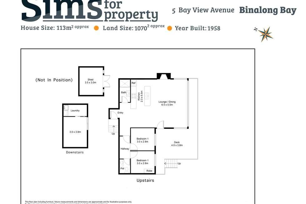 Floorplan of Homely house listing, 5 Bay View Avenue, Binalong Bay TAS 7216