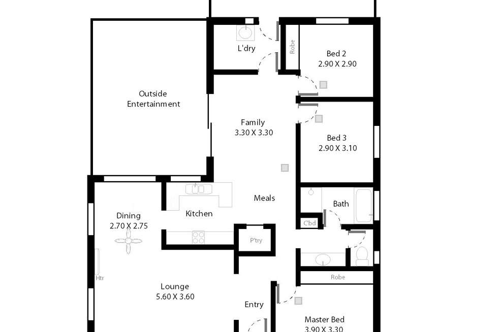 Floorplan of Homely house listing, 1A Morgan Avenue, Seaview Downs SA 5049