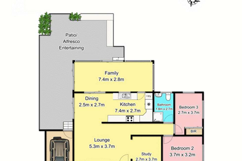 Floorplan of Homely house listing, 20 Evelyn Crescent, Berowra Heights NSW 2082