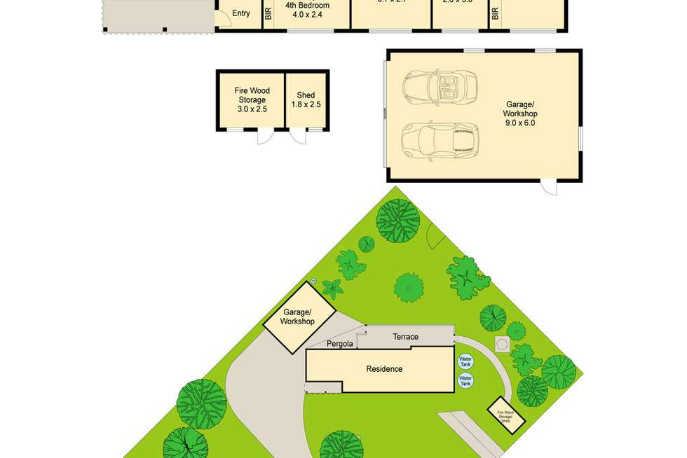 Floorplan of Homely house listing, 1 Hamilton Street, Macedon VIC 3440