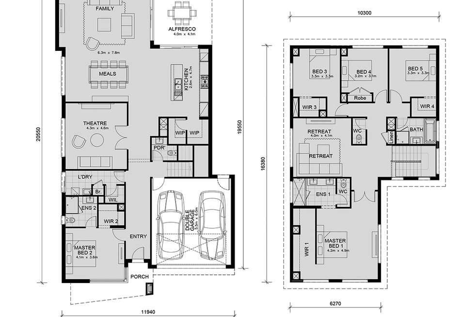 Floorplan of Homely house listing, Lot 25344 Highlands Estate, Craigieburn VIC 3064
