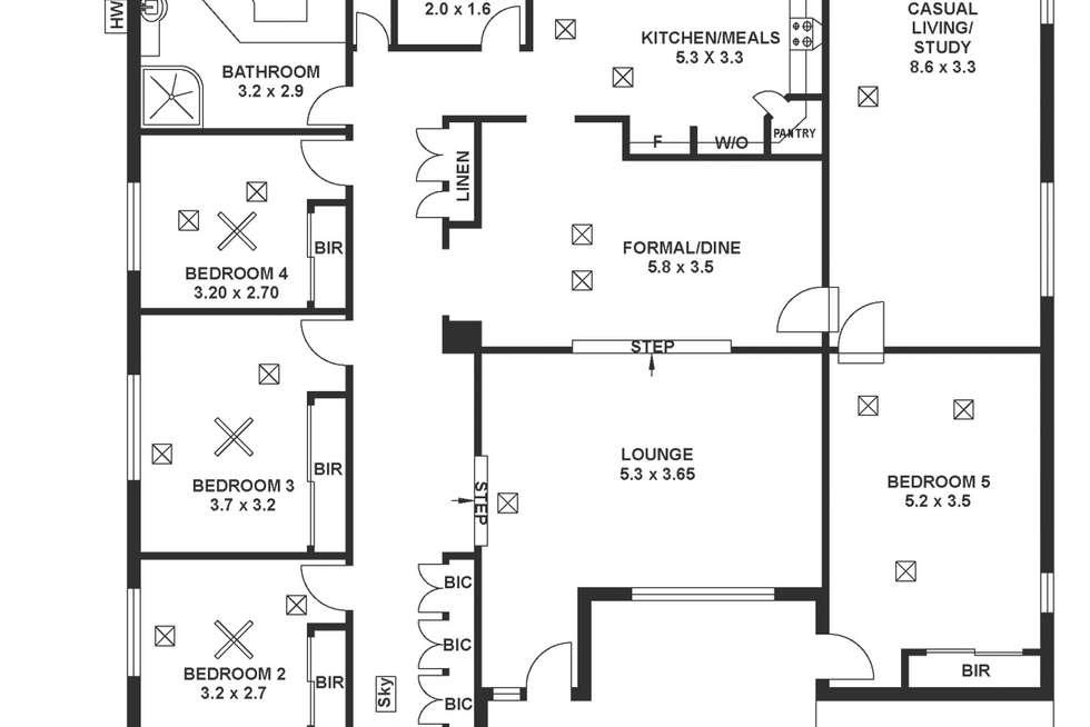 Floorplan of Homely house listing, 15 Kanangra Road, Seaview Downs SA 5049