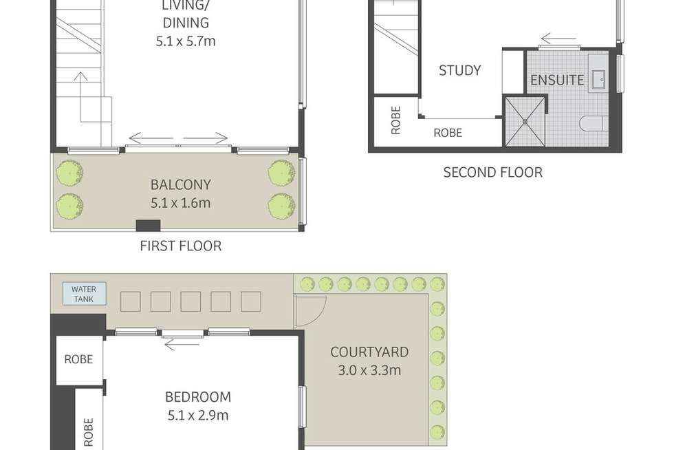 Floorplan of Homely apartment listing, 5/5 Pemell Lane, Newtown NSW 2042