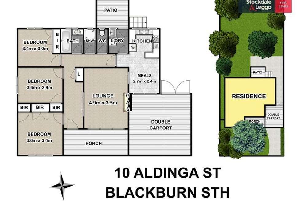 Floorplan of Homely house listing, 10 Aldinga Street, Blackburn South VIC 3130