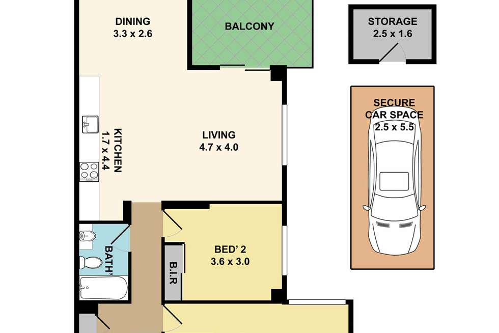 Floorplan of Homely apartment listing, 28/309-311 Peats Ferry Road, Asquith NSW 2077
