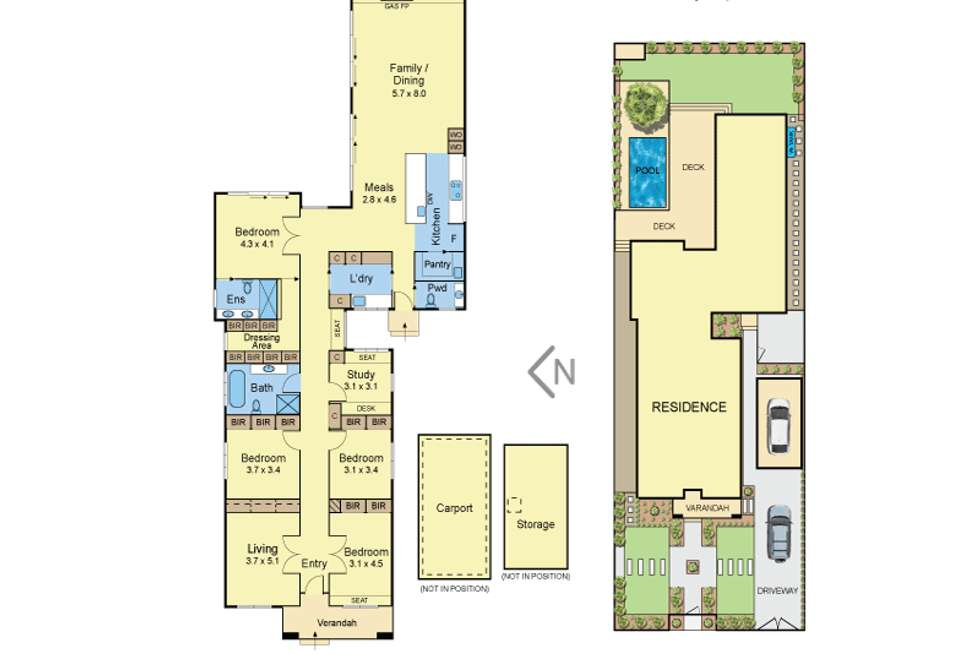 Floorplan of Homely house listing, 14 Irymple Avenue, Kew East VIC 3102