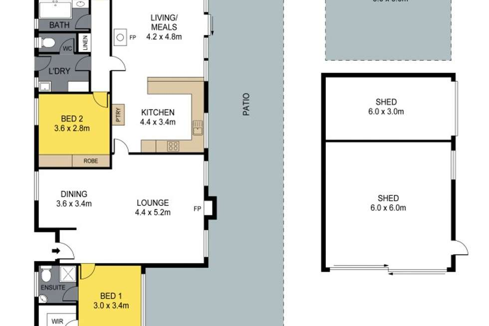 Floorplan of Homely house listing, 15 Ronald Drive, Mandurang VIC 3551