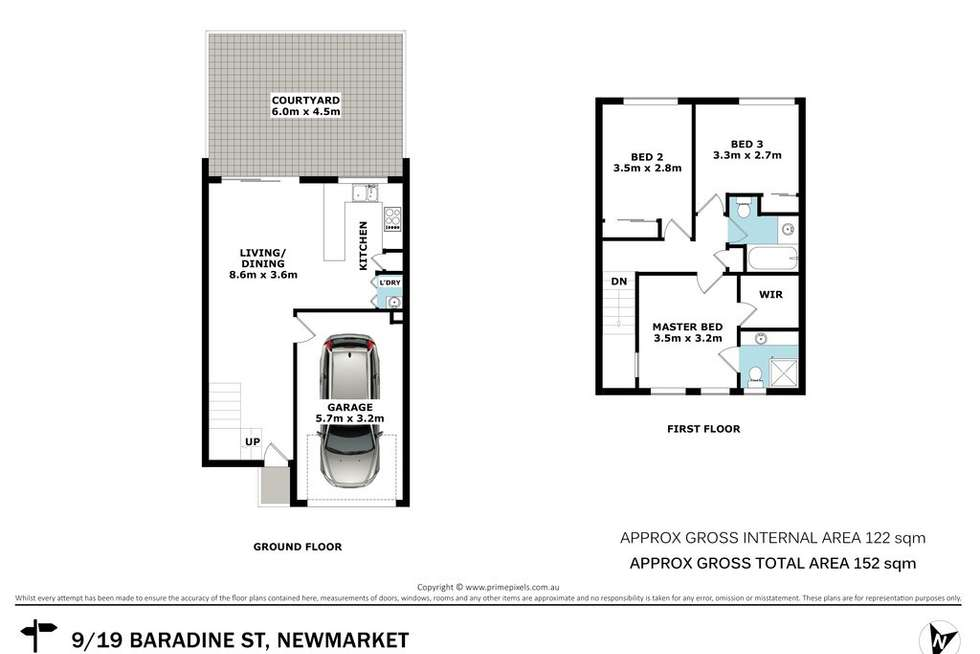 Floorplan of Homely townhouse listing, 9/19 Baradine Street, Newmarket QLD 4051