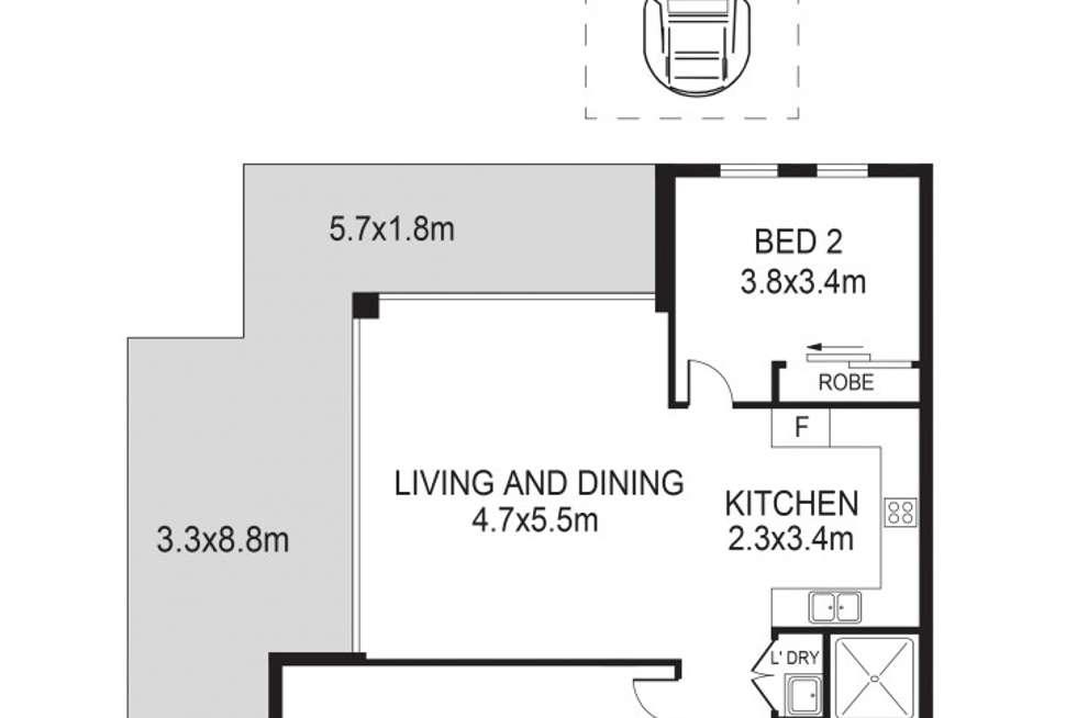Floorplan of Homely apartment listing, 5/70-72 Keeler Street, Carlingford NSW 2118