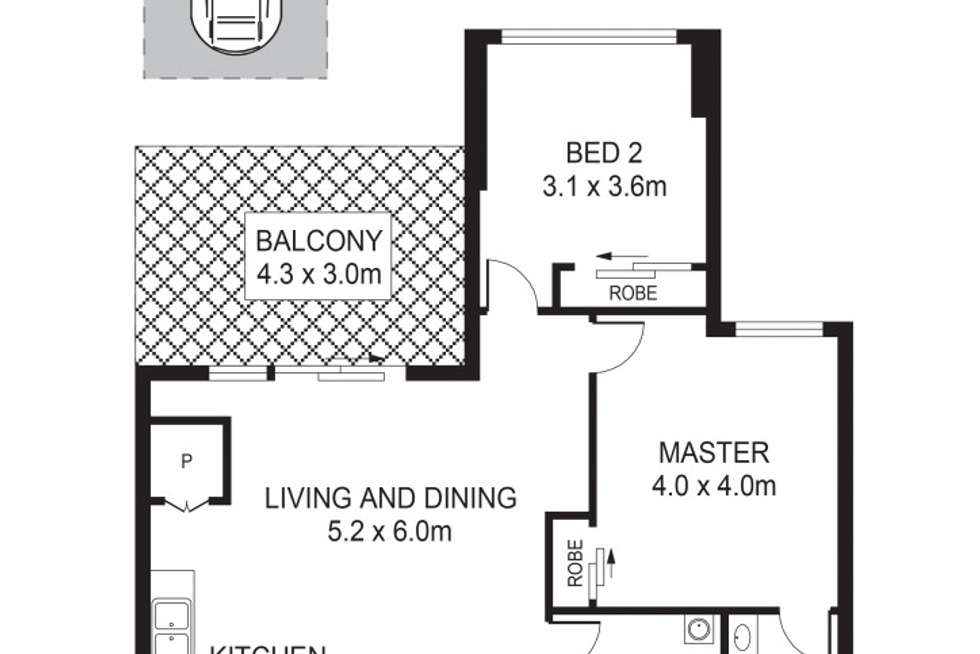 Floorplan of Homely apartment listing, 9/209-211 Carlingford Road, Carlingford NSW 2118