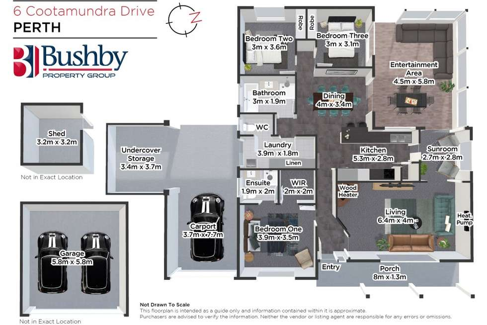 Floorplan of Homely house listing, 6 Cootamundra Drive, Perth TAS 7300