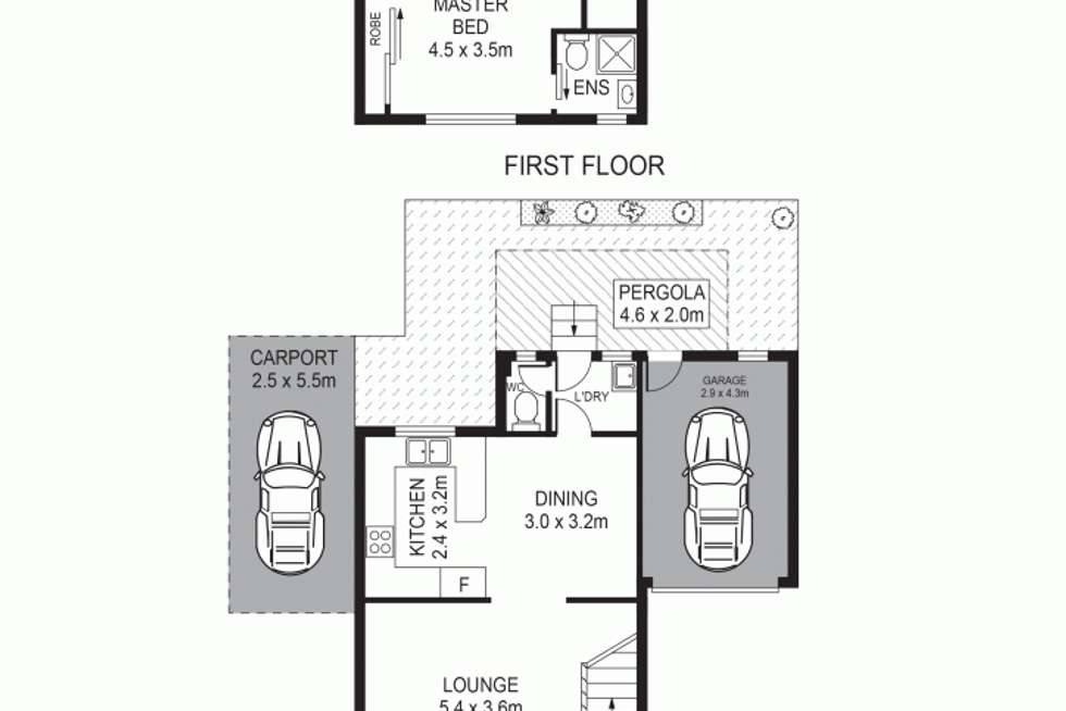 Floorplan of Homely townhouse listing, 22/100 Kissing Point Road, Dundas NSW 2117