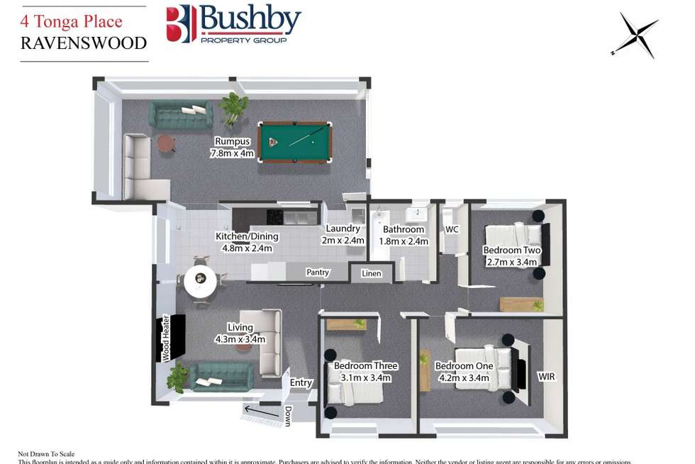 Floorplan of Homely house listing, 4 Tonga Place, Ravenswood TAS 7250