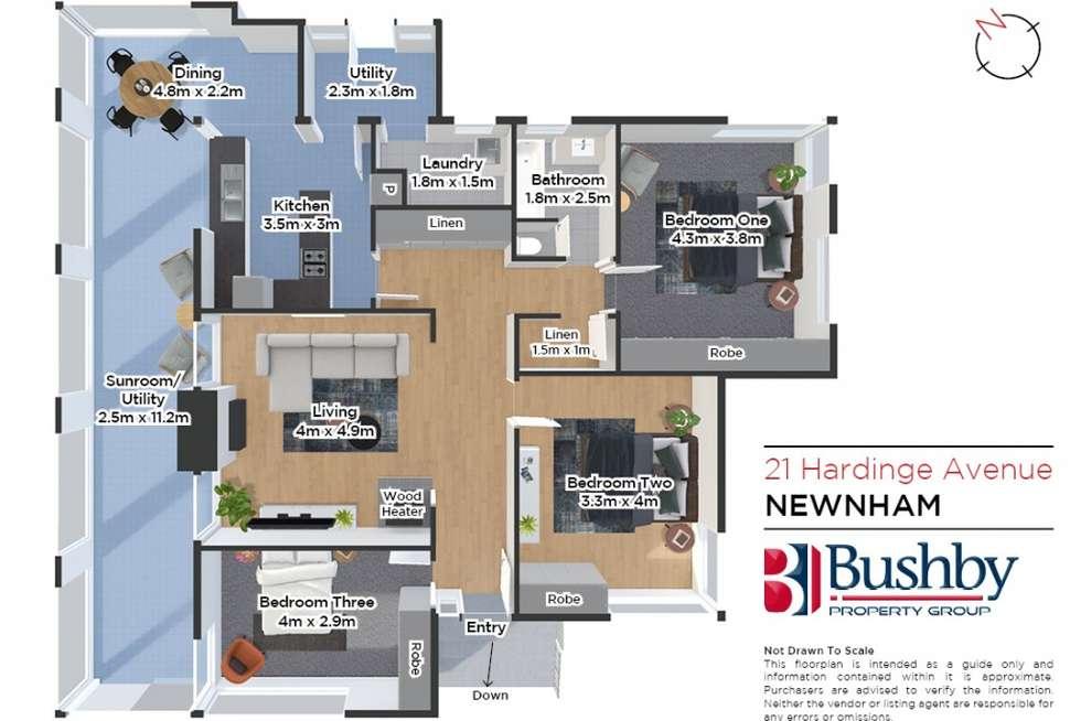 Floorplan of Homely house listing, 21 Hardinge Avenue, Newnham TAS 7248