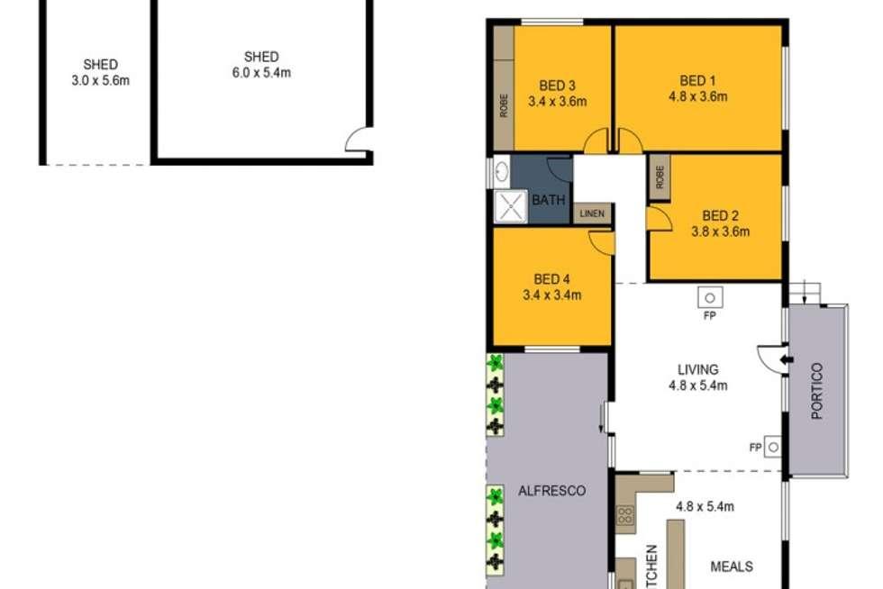 Floorplan of Homely house listing, 506 Diamond Hill Road, Mandurang VIC 3551