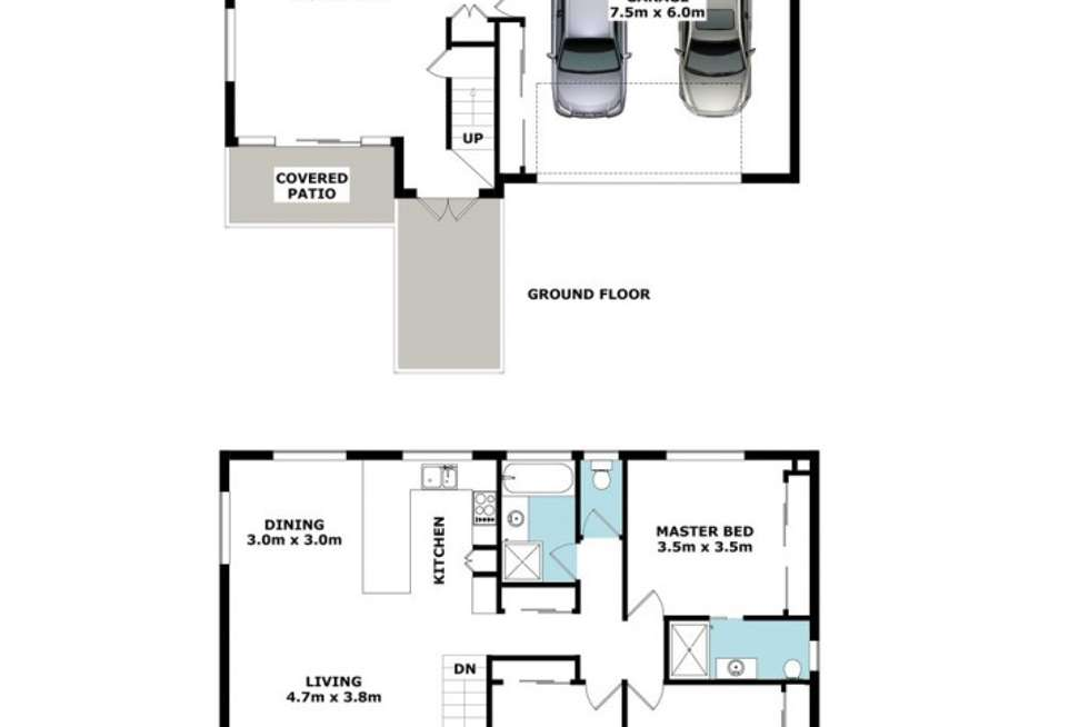 Floorplan of Homely townhouse listing, 33 Clowes Lane, Newmarket QLD 4051