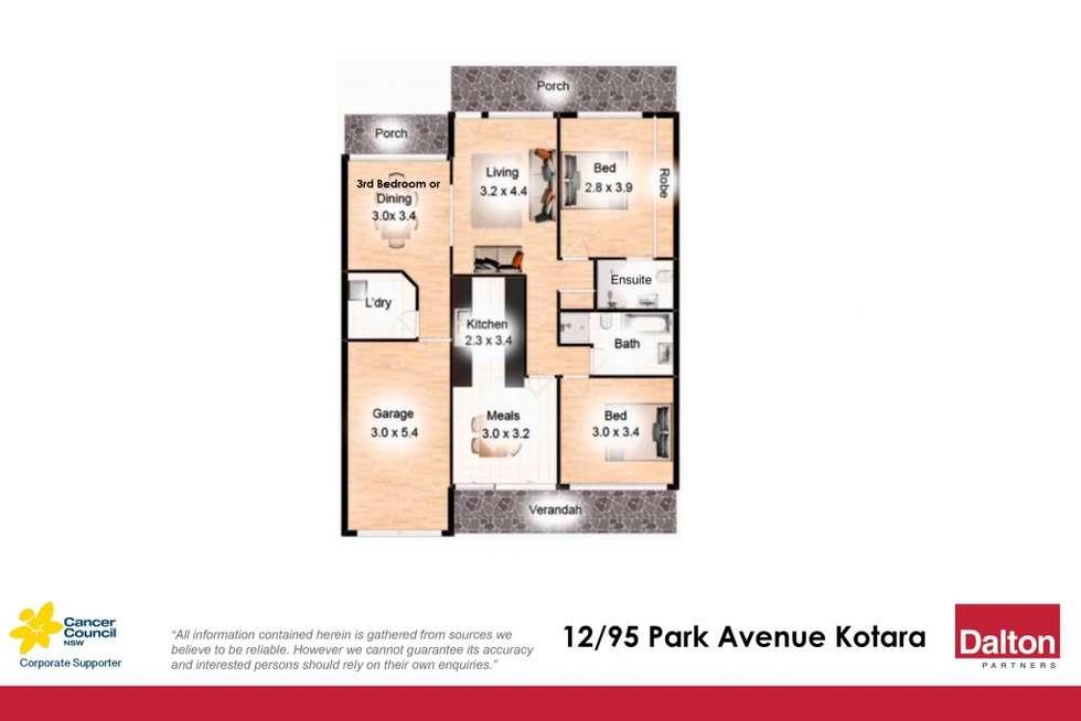 Floorplan of Homely unit listing, 12/95 Park Avenue, Kotara NSW 2289
