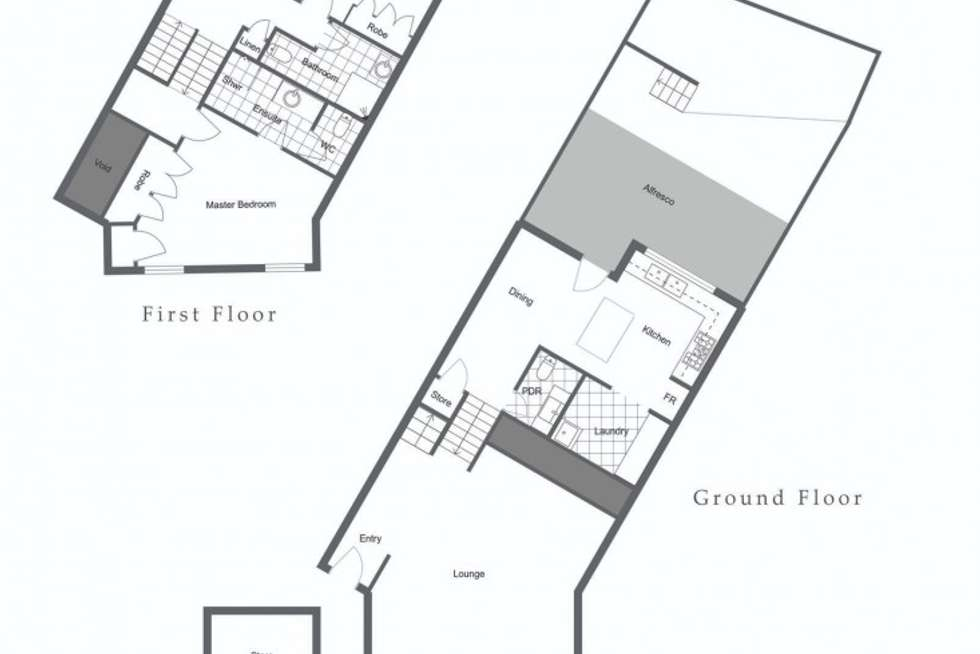 Floorplan of Homely townhouse listing, 2/74 Labouchere Road, South Perth WA 6151