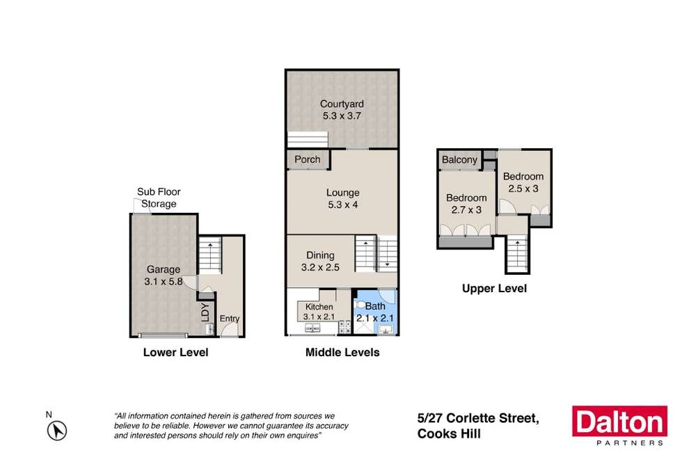 Floorplan of Homely unit listing, 5/27 Corlette Street, Cooks Hill NSW 2300