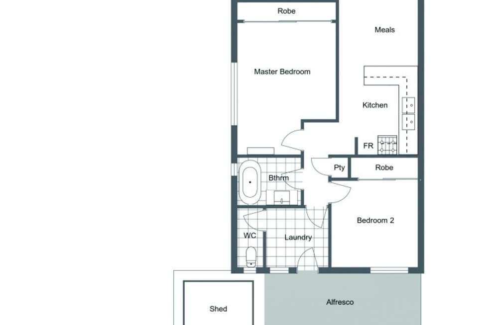 Floorplan of Homely villa listing, 16A Saunders Street, Como WA 6152