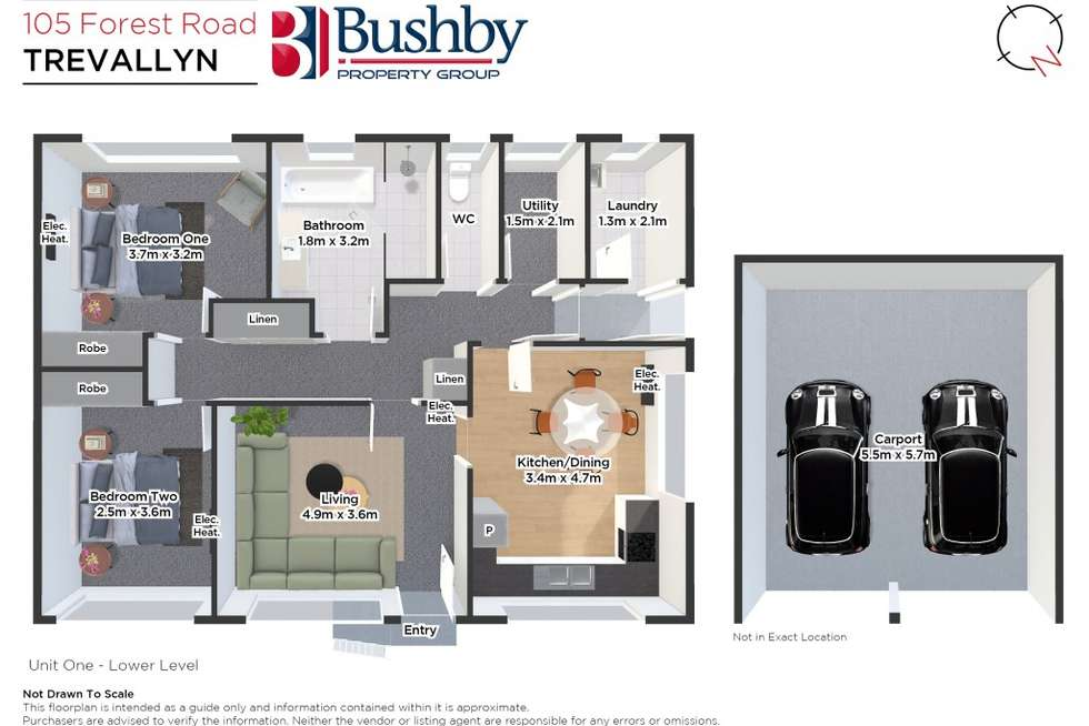 Floorplan of Homely apartment listing, 105 Forest Road, Trevallyn TAS 7250