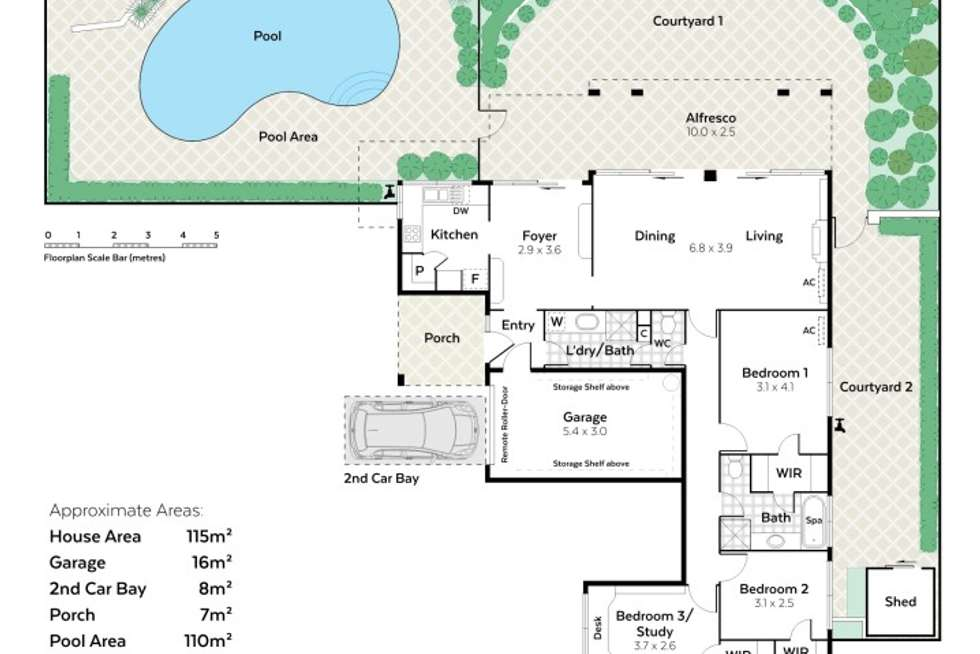 Floorplan of Homely unit listing, 1/32 Jubilee Street, South Perth WA 6151