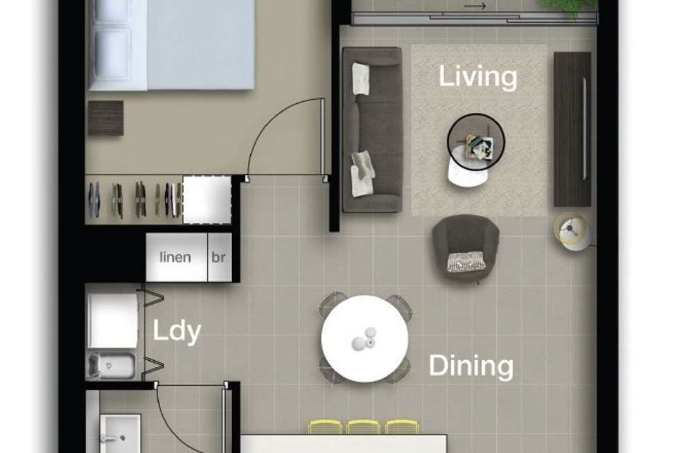 Floorplan of Homely apartment listing, 5305/331 MacArthur Avenue, Hamilton QLD 4007
