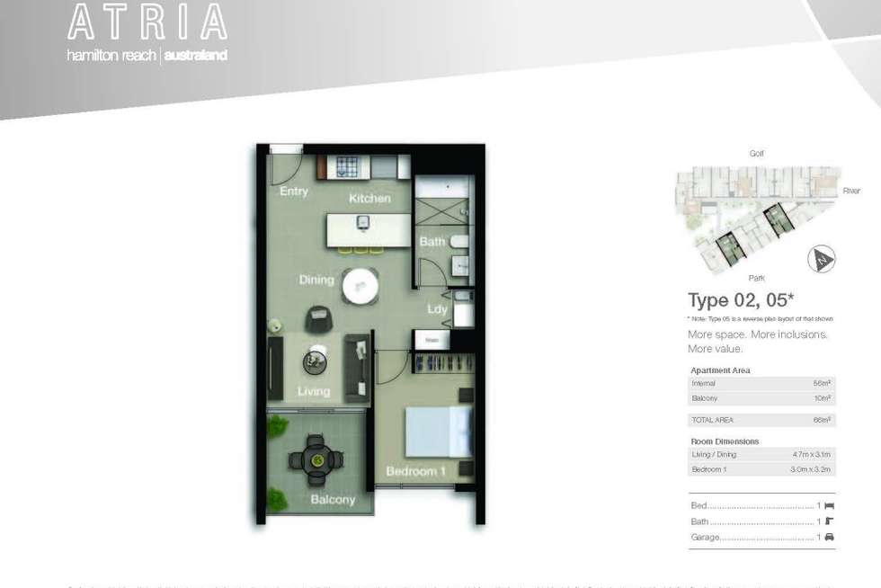 Floorplan of Homely apartment listing, 4205/18 Parkside Circuit, Hamilton QLD 4007