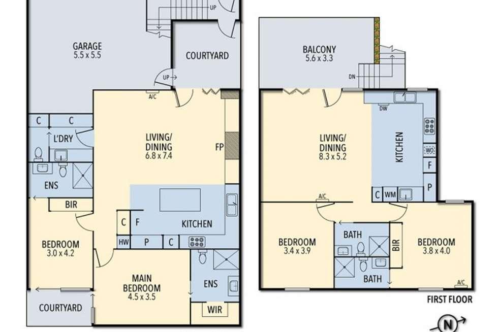 Floorplan of Homely house listing, 11 Carroll Street, Richmond VIC 3121