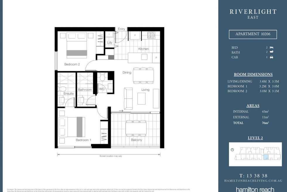 Floorplan of Homely apartment listing, 0607/320 Macarthur Avenue, Hamilton QLD 4007