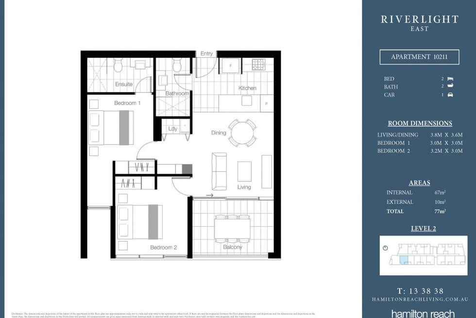 Floorplan of Homely apartment listing, 10411/320 Macarthur Avenue, Hamilton QLD 4007