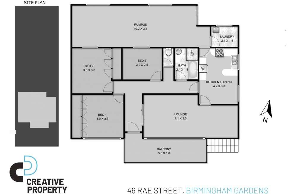 Floorplan of Homely house listing, 46 Rae Street, Birmingham Gardens NSW 2287