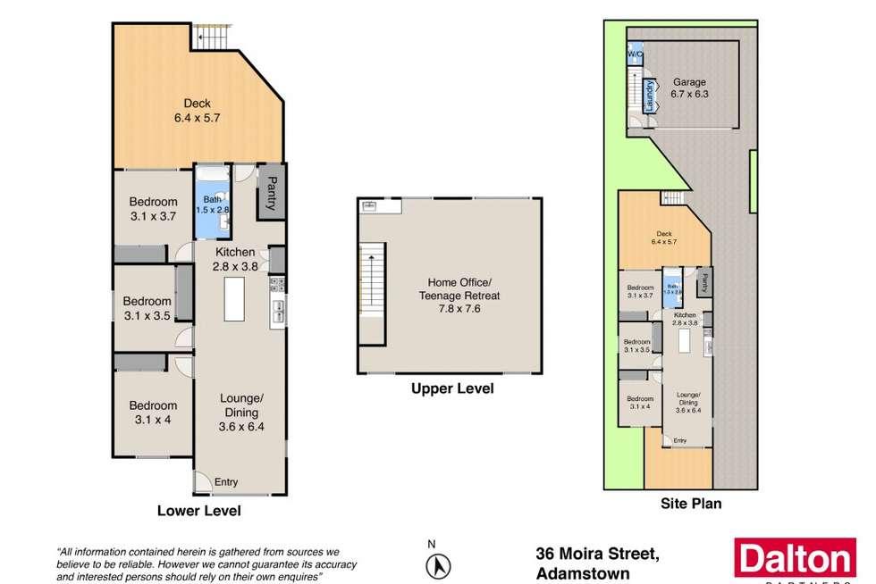 Floorplan of Homely house listing, 36 Moira Street, Adamstown NSW 2289