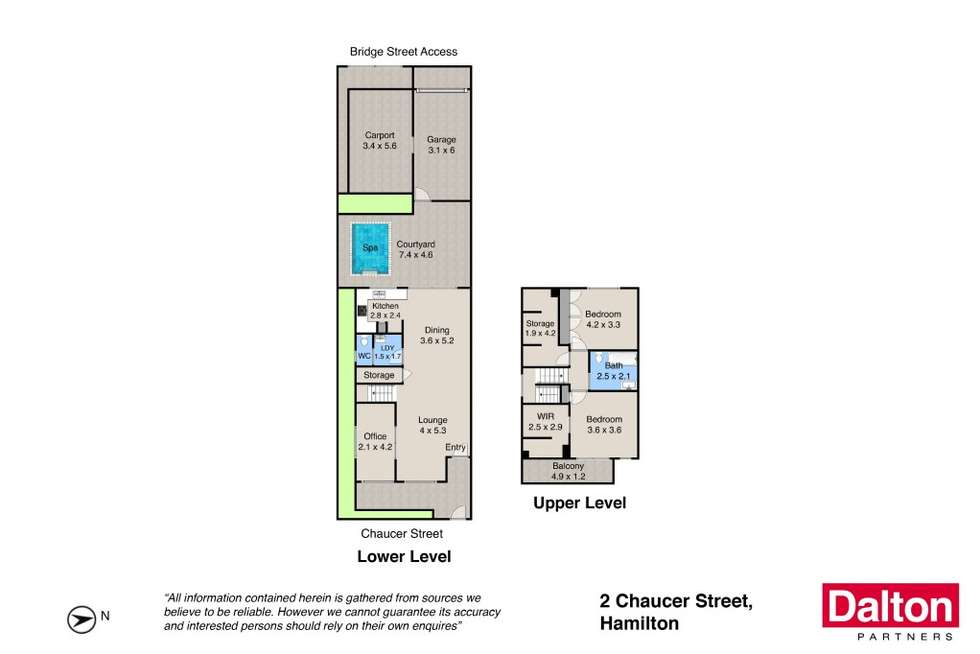 Floorplan of Homely house listing, 2 Chaucer Street, Hamilton NSW 2303