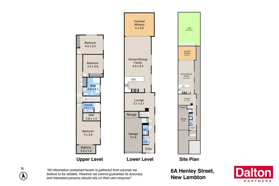 Floorplan of Homely townhouse listing, 6A Henley Street, New Lambton NSW 2305