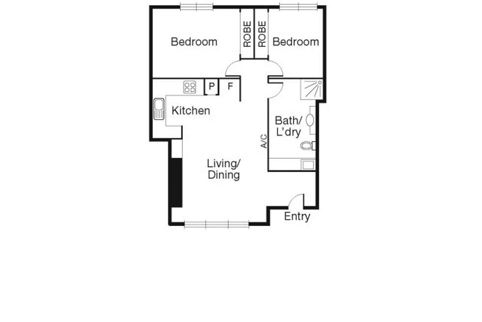 Floorplan of Homely apartment listing, 5/352 Albert Road, South Melbourne VIC 3205