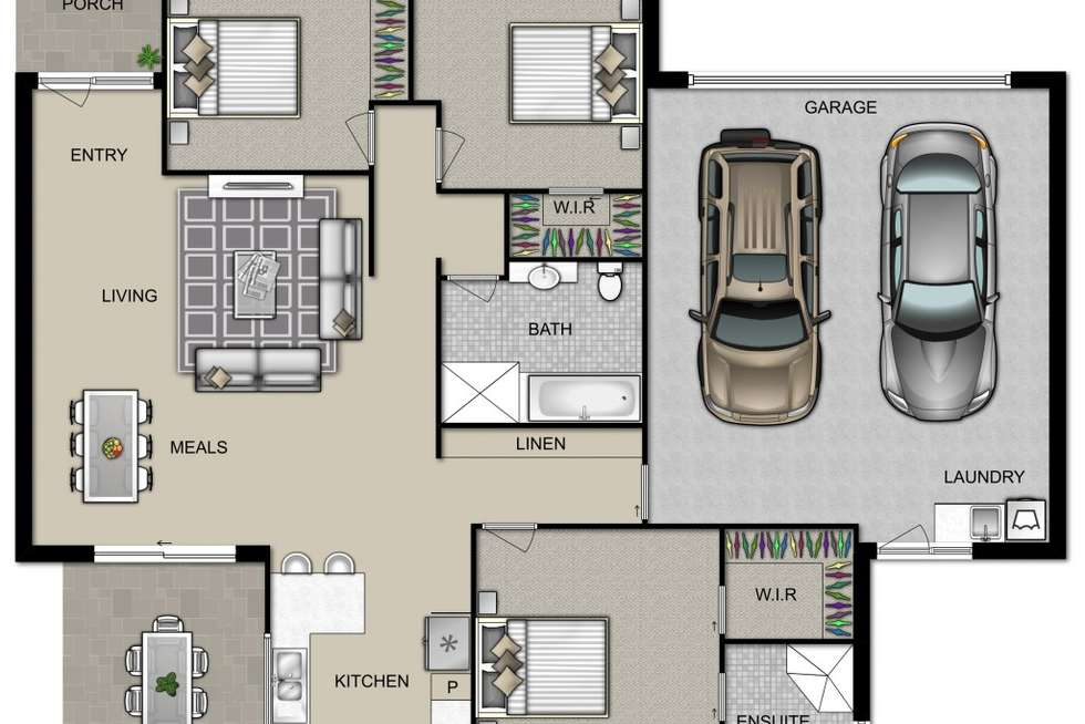 Floorplan of Homely villa listing, 2/9 Warrigal St, Blackwall NSW 2256