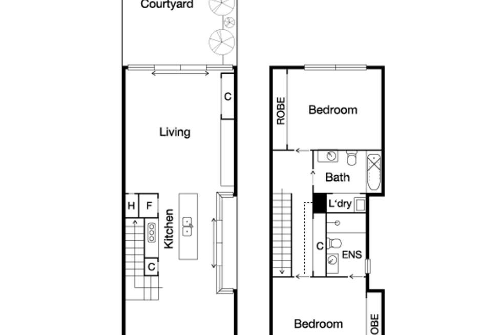 Floorplan of Homely house listing, 104A Erskine Street, Middle Park VIC 3206