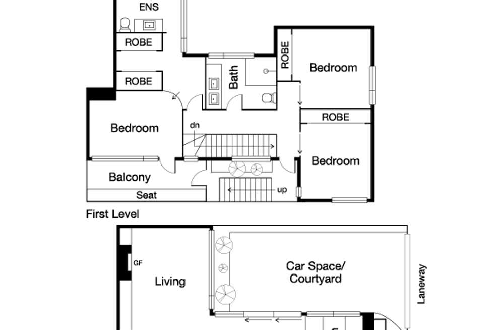 Floorplan of Homely townhouse listing, 223A Page Street, Middle Park VIC 3206