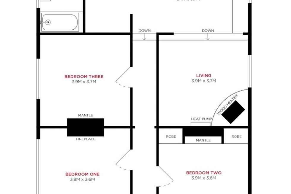 Floorplan of Homely house listing, 6 Irvine Street, Invermay TAS 7248