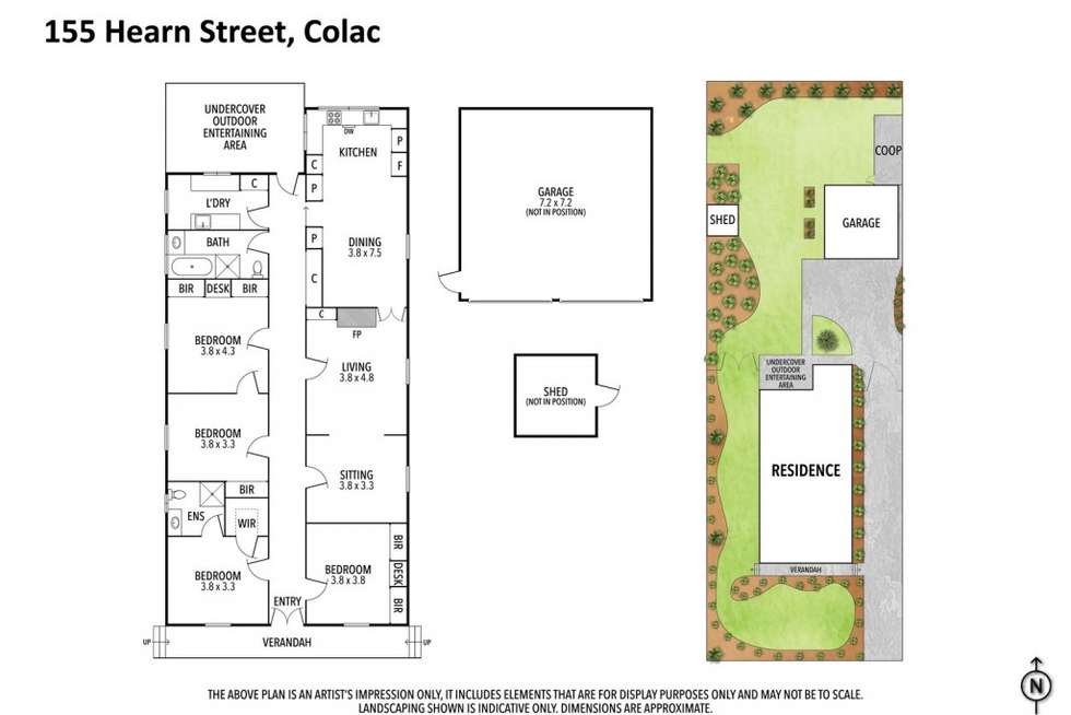 Floorplan of Homely house listing, 155 Hearn Street, Colac VIC 3250