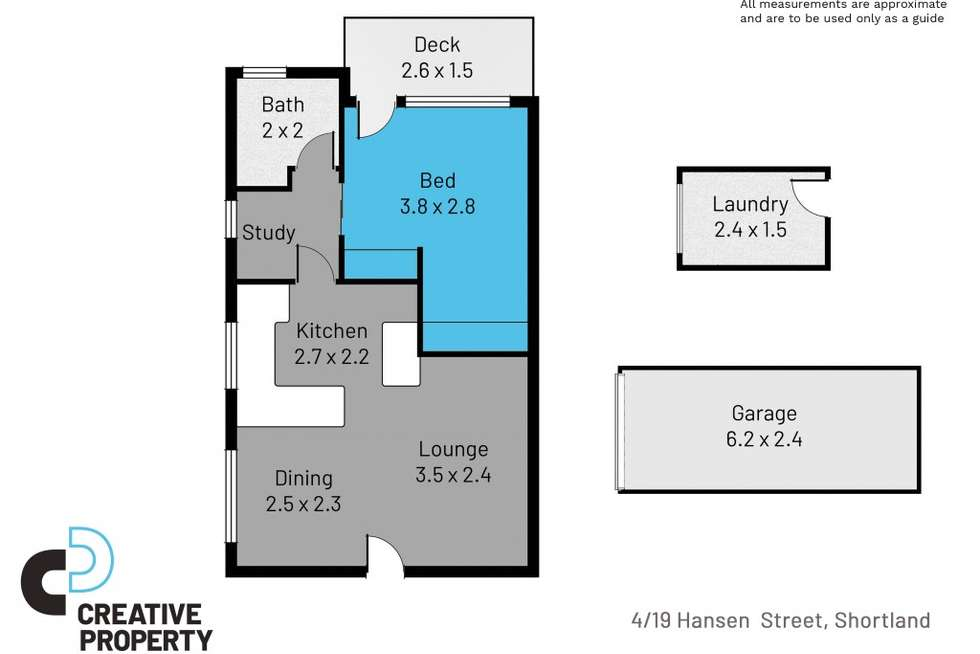 Floorplan of Homely unit listing, 4/19 Hansen Place, Shortland NSW 2307