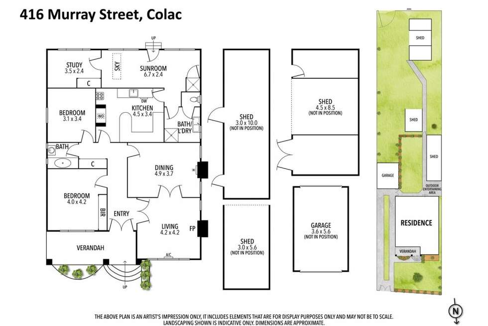 Floorplan of Homely house listing, 416 Murray Street, Colac VIC 3250