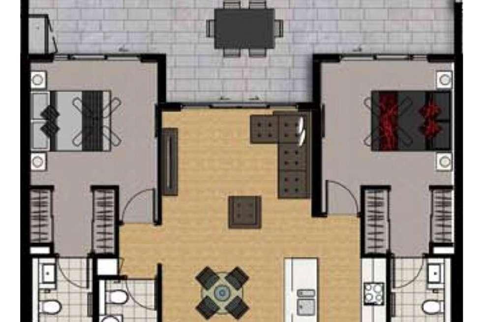 Floorplan of Homely apartment listing, 55/68 Benson Street, Toowong QLD 4066