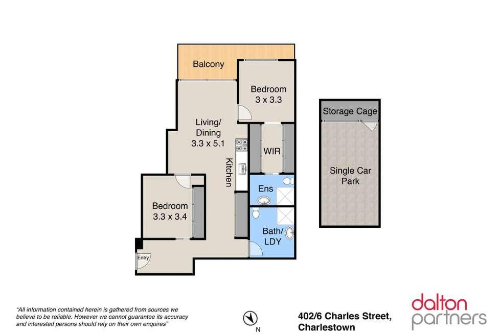 Floorplan of Homely apartment listing, 402/6 Charles Street, Charlestown NSW 2290