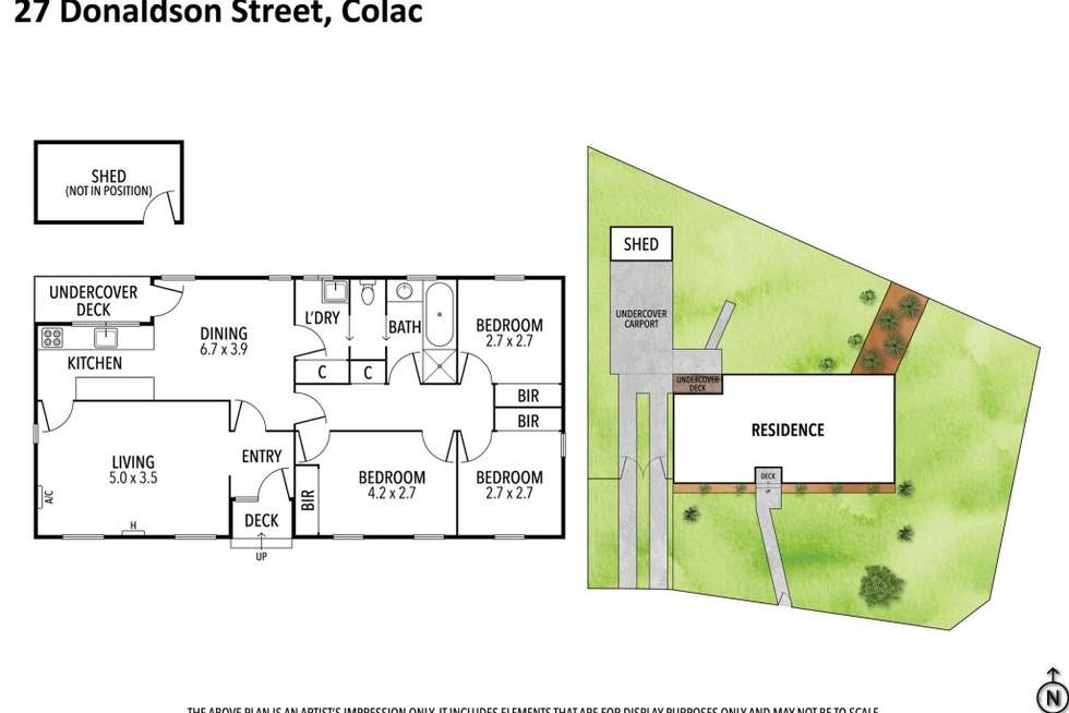 Floorplan of Homely house listing, 27 Donaldson Street, Colac VIC 3250