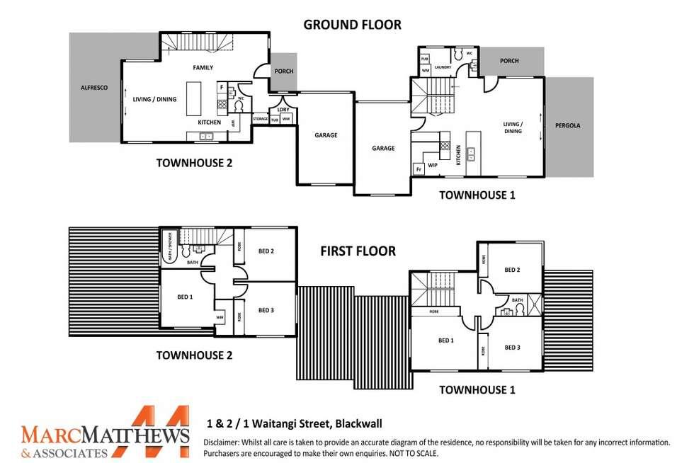 Floorplan of Homely townhouse listing, 2/1 Waitangi Street, Blackwall NSW 2256