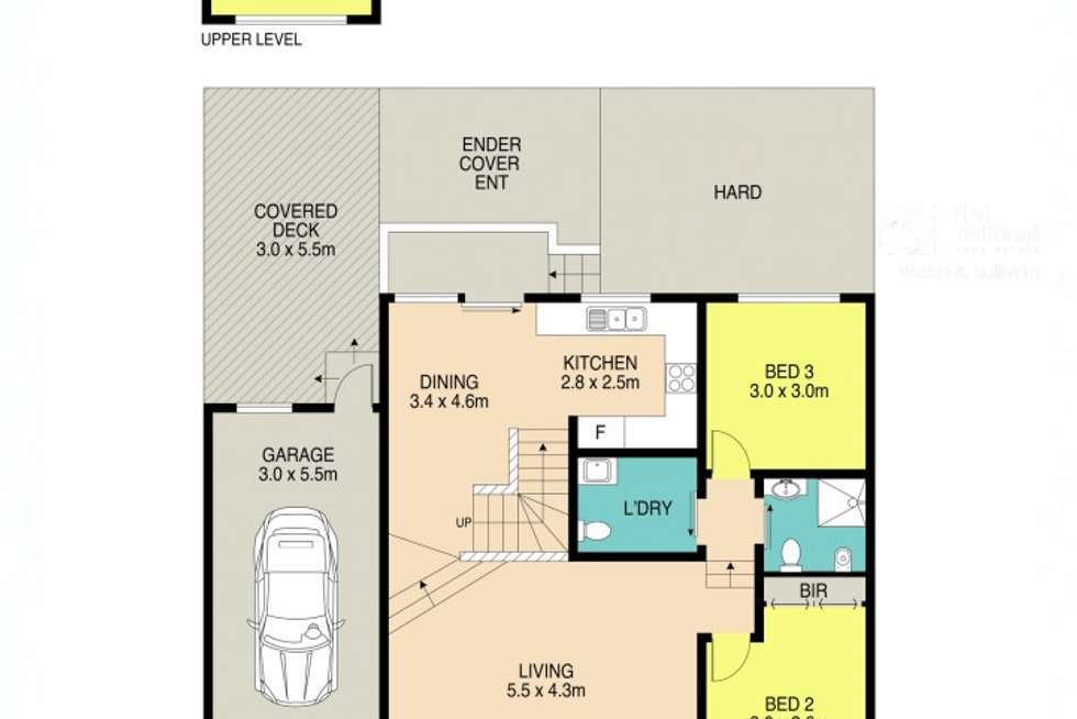 Floorplan of Homely townhouse listing, 6/14 Pemberton Street, Parramatta NSW 2150